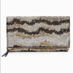 Stella and Dot Metallic Knit Clutch
